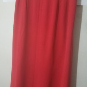 Worth womens silk skirt petite size 4 Pre-owned